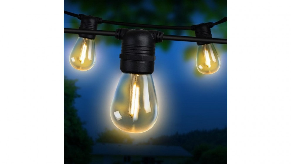 Jingle Jollys S14 Bulb 41m LED Festoon Lights Kit - Warm White