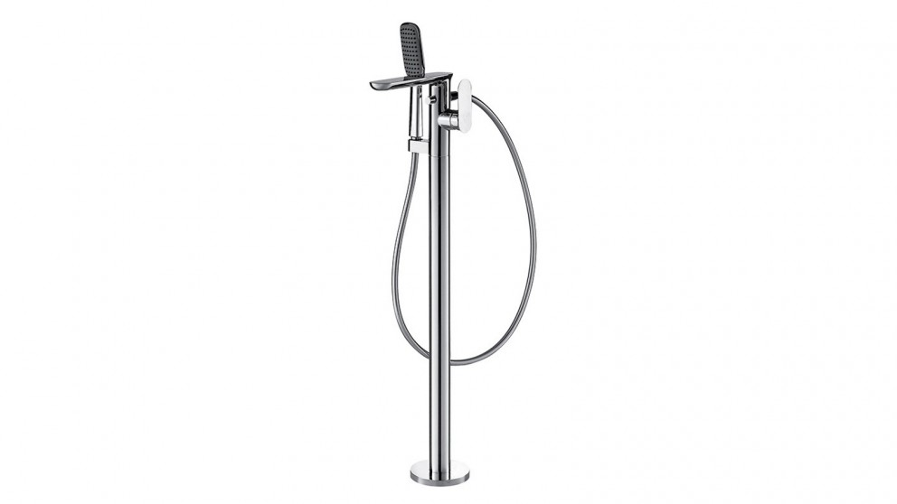 Bravat Gina Freestanding Bath Spout with Hand Shower - Chrome