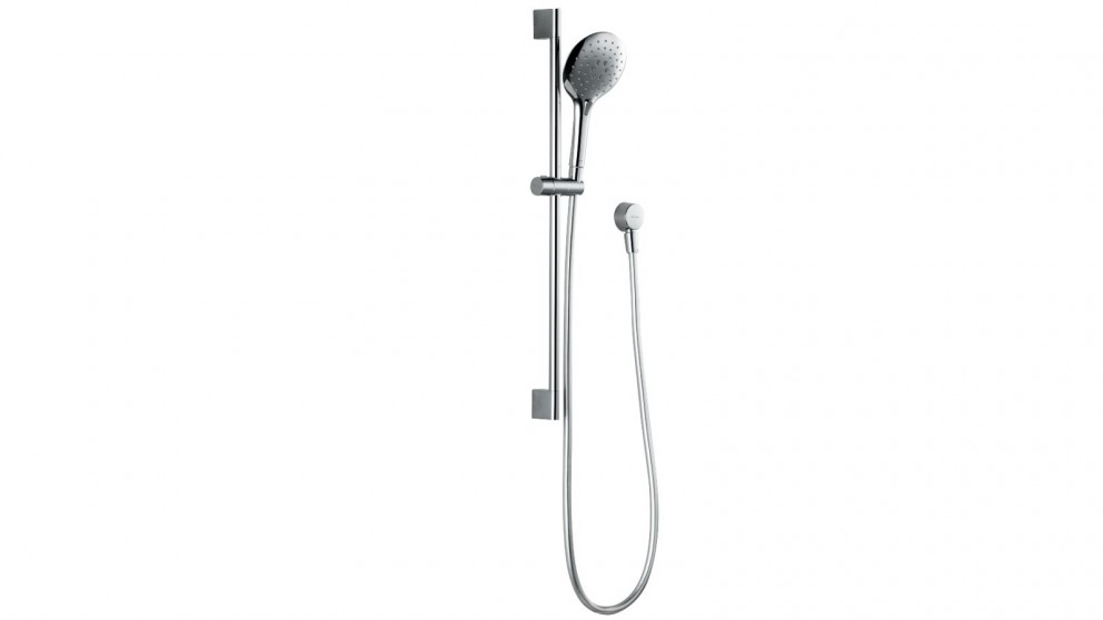 Bravat Gina 3 Function Air Jet Hand Shower on Rail - Chrome