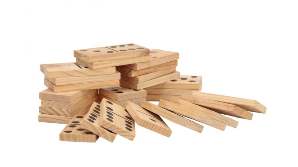 Jenjo Giant Outdoor Dominoes Game Set