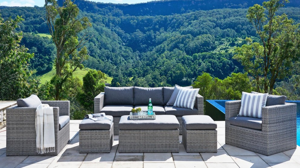 Buy Gili 6 Piece Outdoor Lounge Setting | Harvey Norman AU