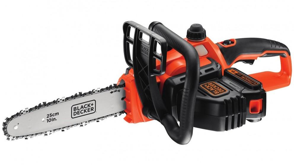 Black+Decker 250mm 18V Li-ion Cordless Chainsaw - Orange