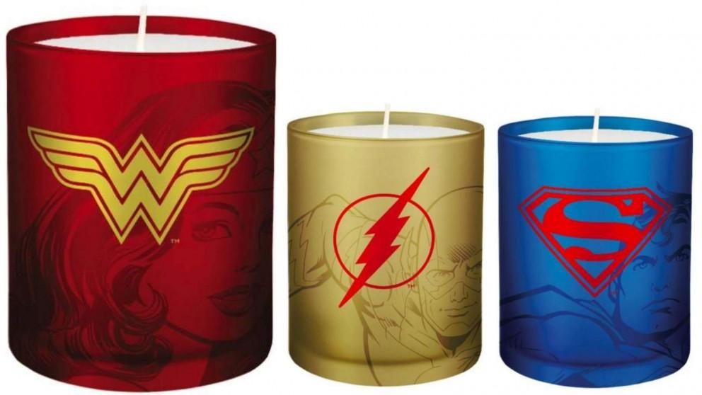 Glass Votive Candle DC Comics