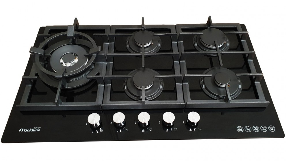 Goldline 900mm 5 Burner Dual Control Gas Cooktop