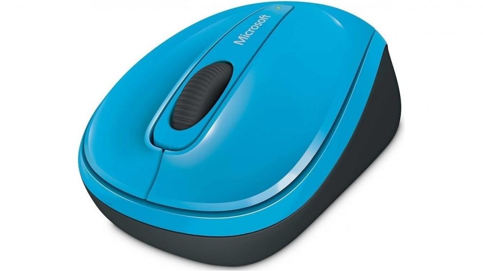 Microsoft 3500 Wireless Mobile Mouse - Cyan Blue