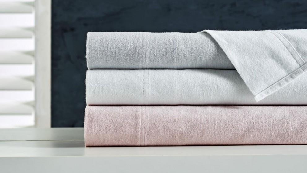 L'Avenue Flannelette White Sheet Set - Queen