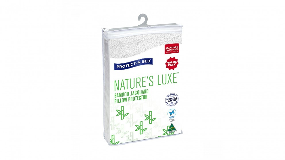 Protect-A-Bed Nature's Luxe Waterproof Standard Pillow Protector Twin Pack