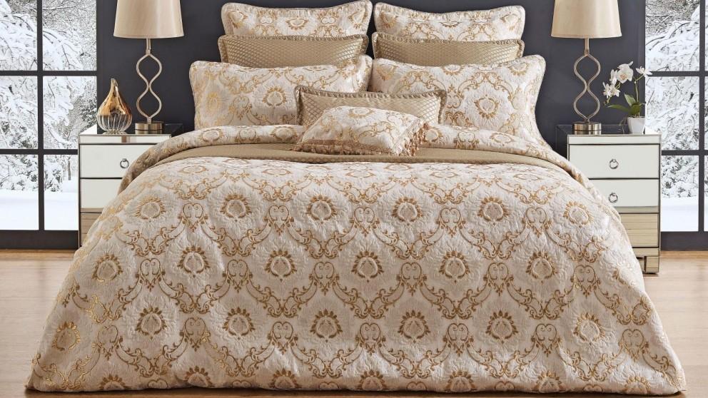 Arison Gold Quilt Cover Set