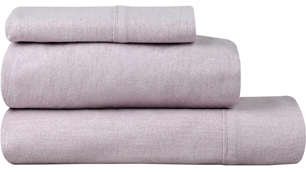 Private Collection Flannelette Plum King Sheet Set