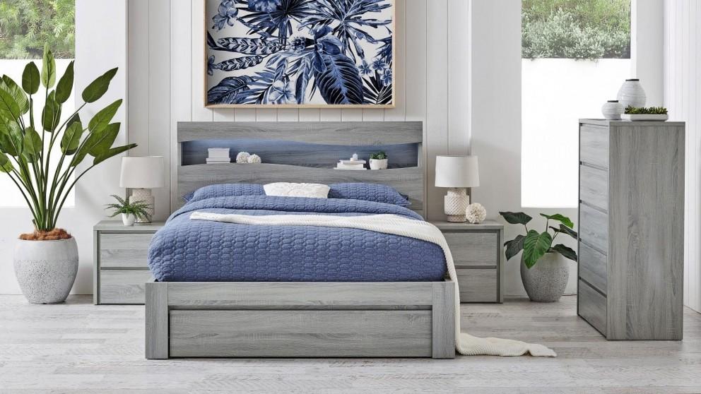 Wave Side Gaslift Bed - King