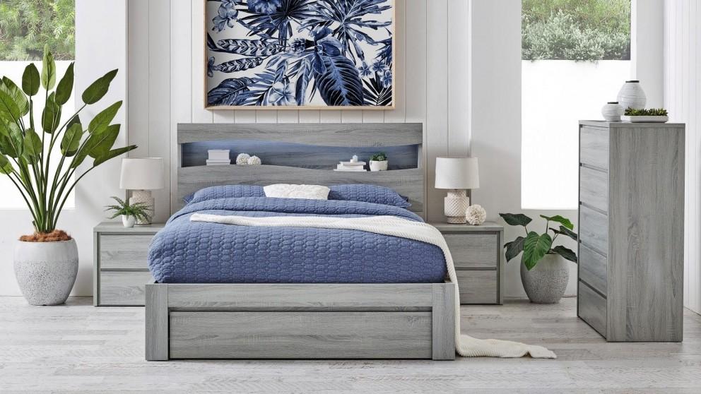 Wave Front Gaslift Bed - King
