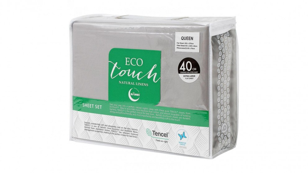 Bambi Eco Touch Tencel Silver Sheet Set - Queen