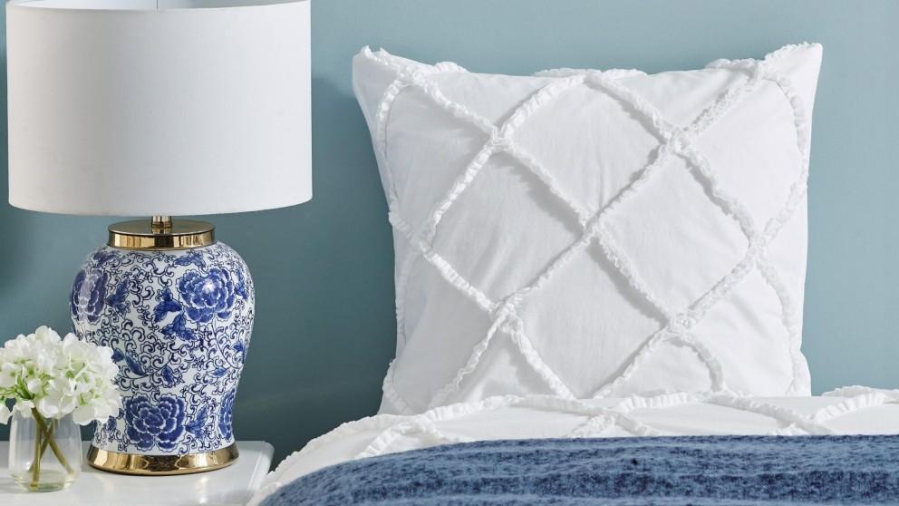 L'Avenue Cassidy White European Pillowcase