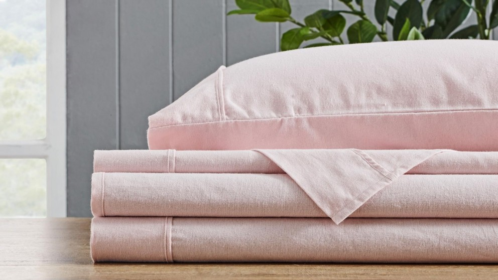 L'Avenue Flannelette Blush Sheet Set