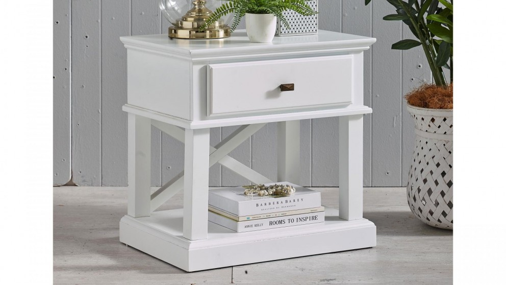 Chicago 1-Drawer Bedside Table - White