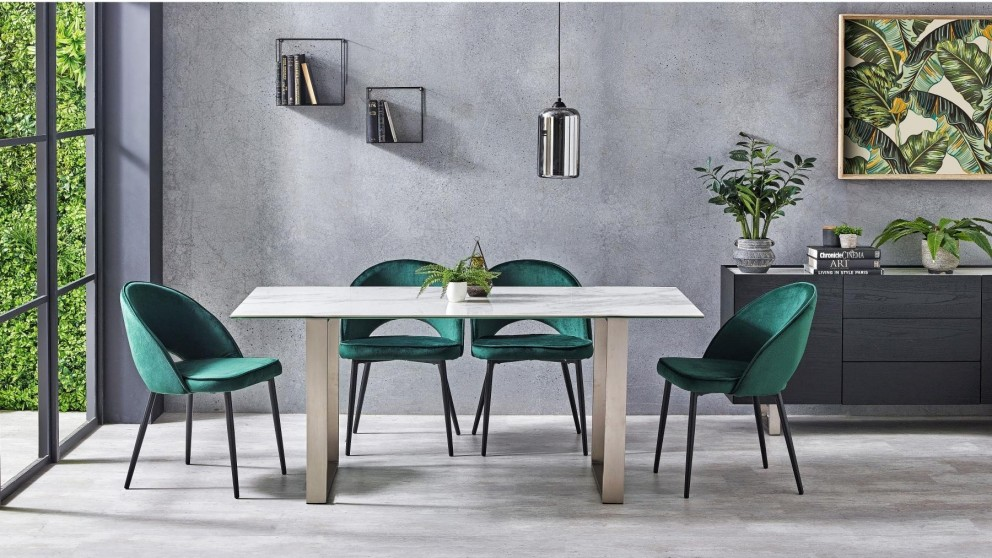 Arena 7-Piece Dining Setting with Gemma Chairs