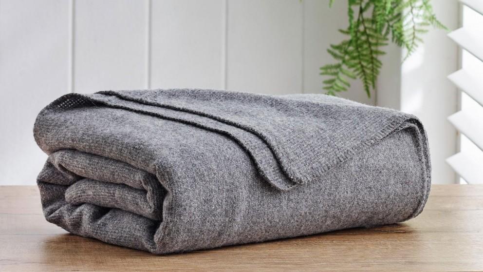 Alpaca Wool Dark Grey Blanket - King/Super King