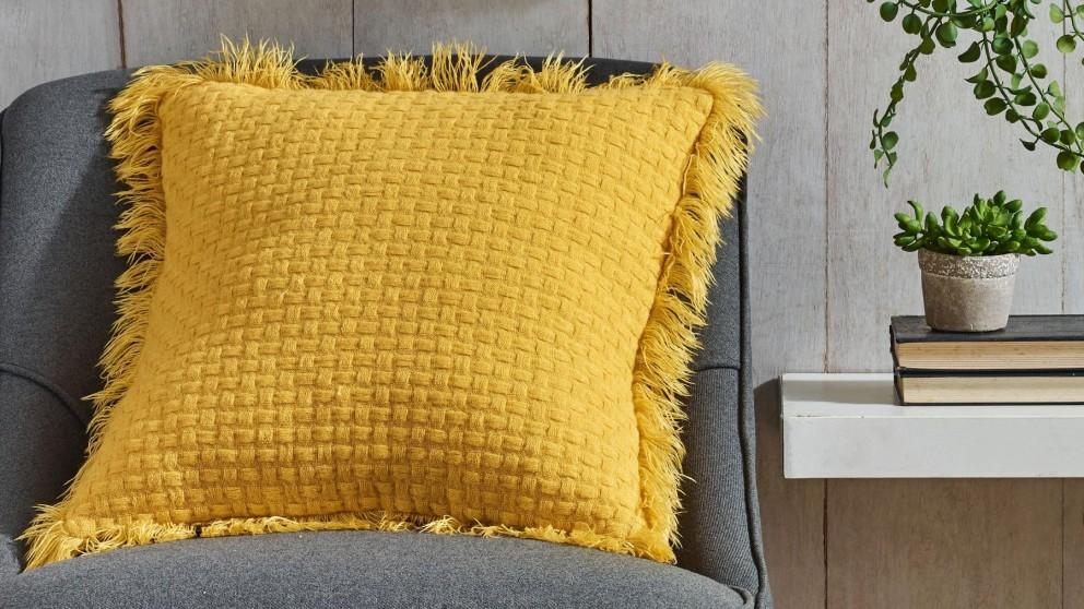 L'Avenue Summer Mustard Cushion