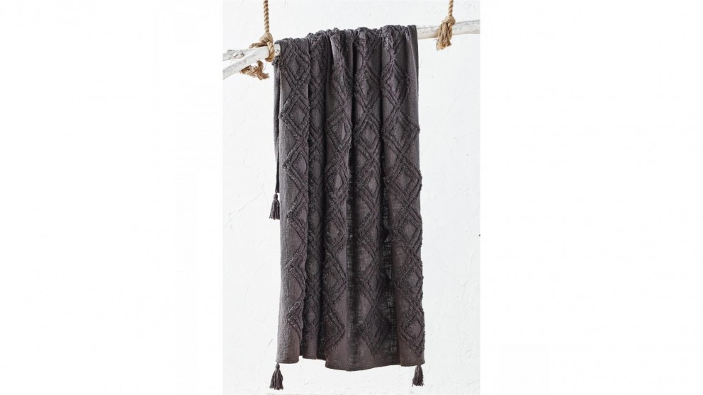 L'Avenue Atmosphere Charcoal Throw