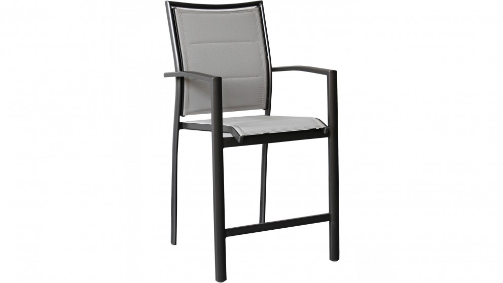 Cetona Outdoor Bar Chair - Charcoal