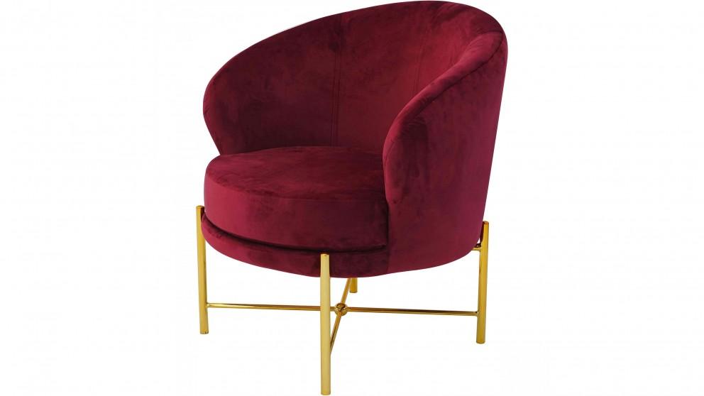 Classic Bedroom Chair - Burgundy