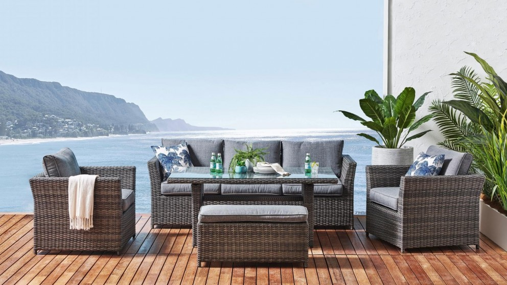 Jensen 5-Piece Outdoor Lounge/Dining Setting