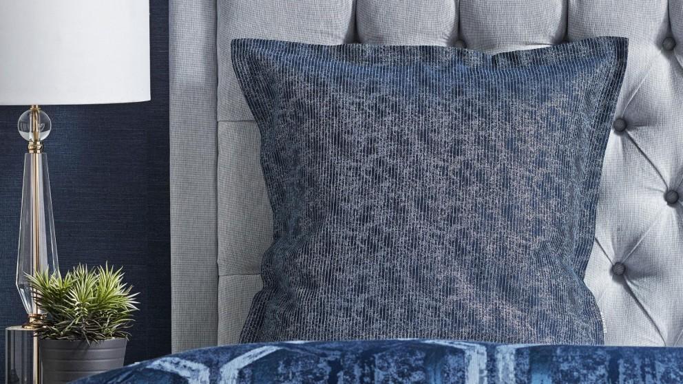 Denim Geo Blue European Pillowcase