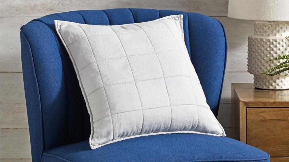 L'Avenue Linen Silver Cushion