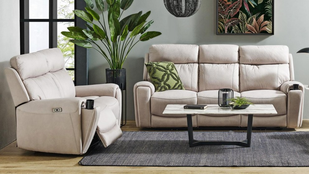 Gatsby Fabric Powered Recliner Sofa