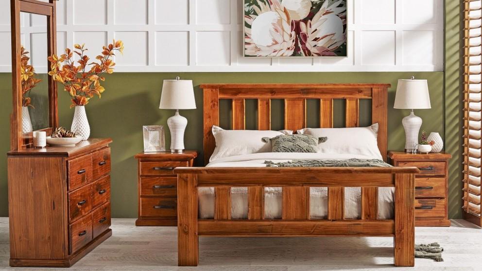 Kiama 4-Piece Bedroom Suite with Dresser and Mirror - Queen