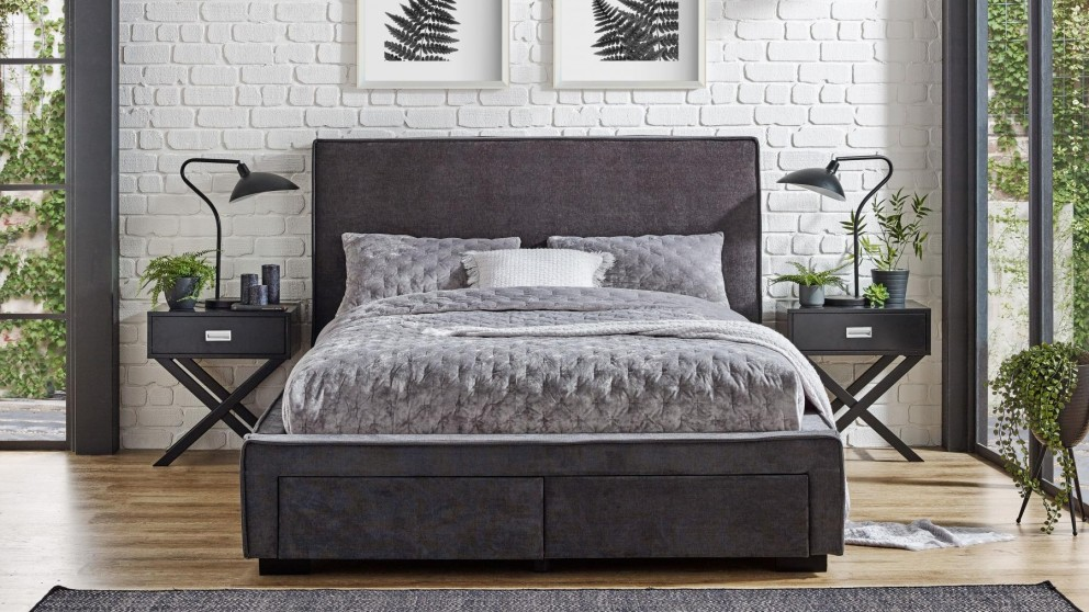 Trieste 2-Drawer Queen Bed - Licorice