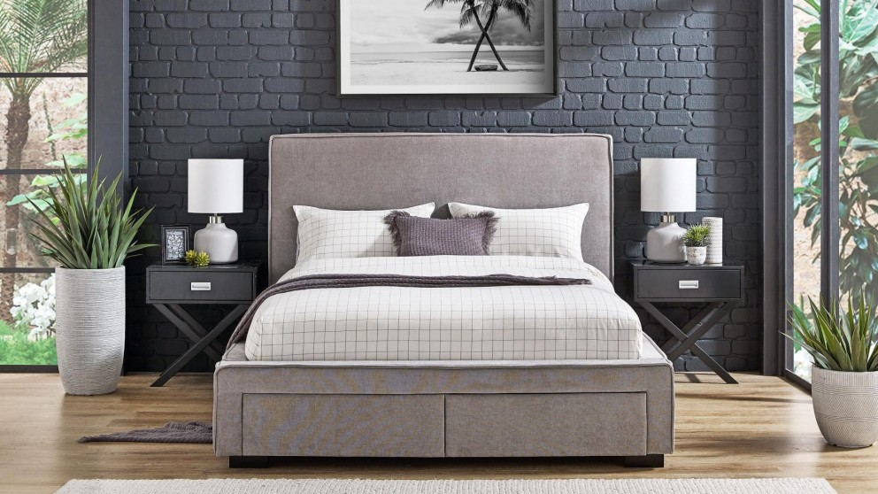 Trieste 2-Drawer Queen Bed - Slate
