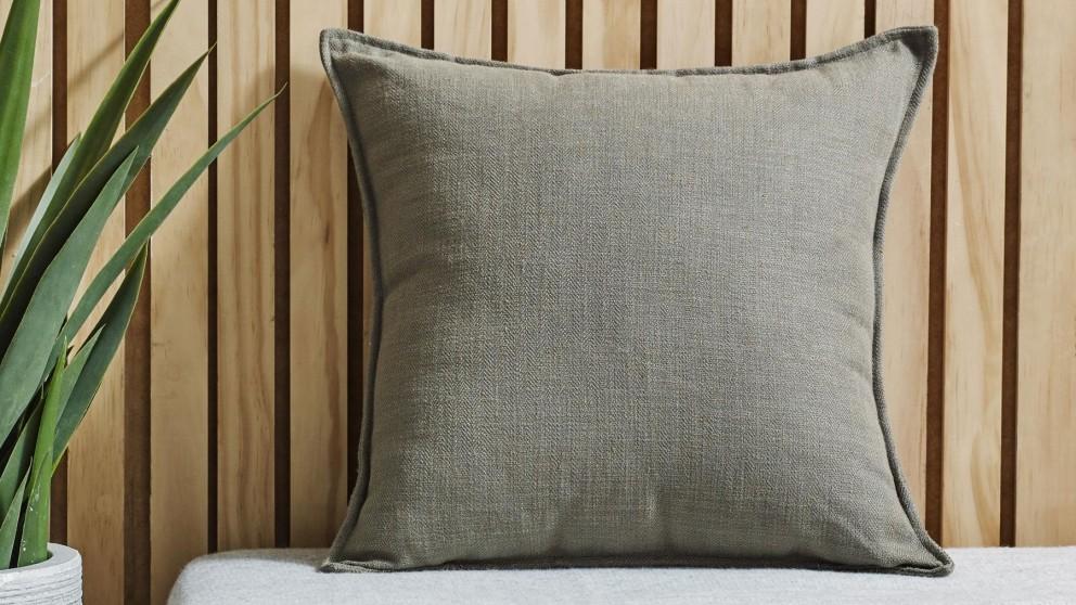 L'Avenue Shaw Linen Blend Sage Cushion