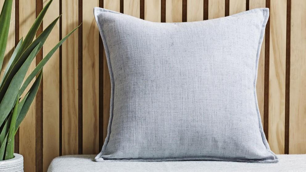 L'Avenue Shaw Linen Blend Silver Cushion
