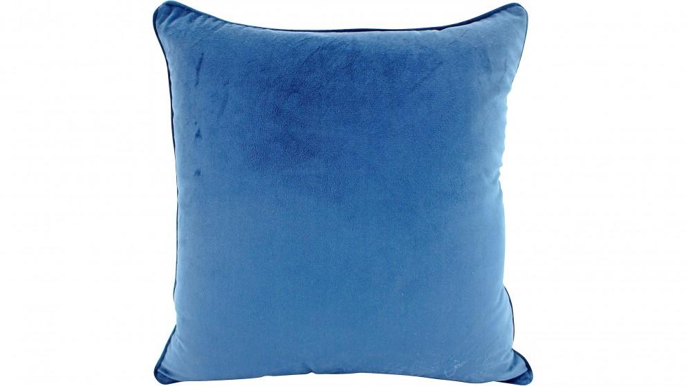Piped Velvet Ocean Cushion