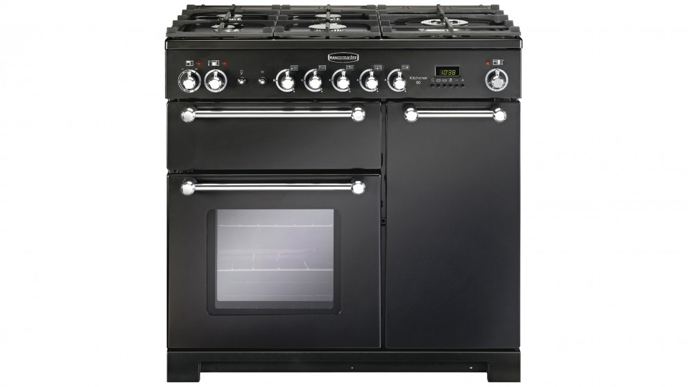 Falcon Kitchener 900mm Dual Fuel Freestanding Cooker - Black Chrome