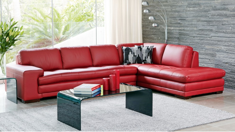 Dylan Leather Corner Sofa with Chaise Lounges Living  : gp5884911 from www.harveynorman.com.au size 992 x 558 jpeg 178kB