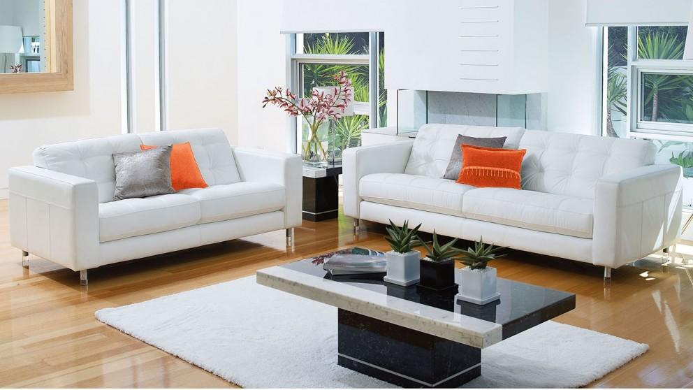 Alessia 2 Piece Leather Lounge Suite. Lounges Suites   Sofas   Leather  Chaise   Modular   Harvey Norman
