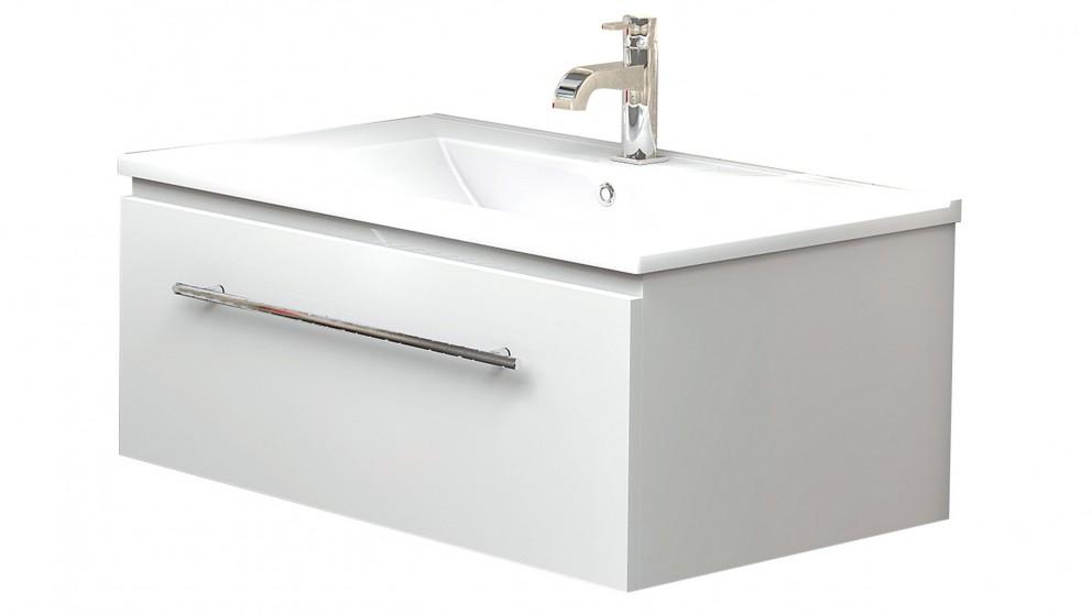 Vanity Bathroom Harvey Norman timberline cruize regal 750 wall hung vanity - bathroom vanities