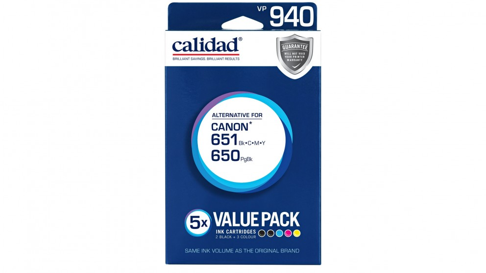 Calidad Canon 650 + 651 Value Pack Ink Cartridge
