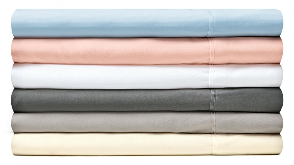 L'Avenue 300 Thread Count King Single Fitted Sheet - Blush