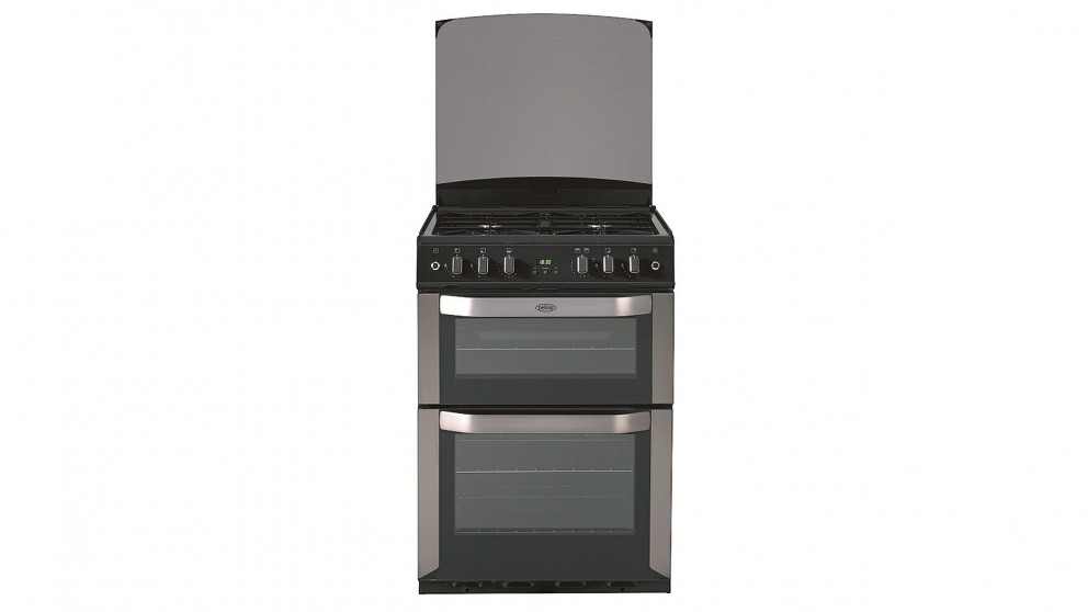 Belling 600mm Freestanding Fanned Gas Double Oven Cooker - Stainless Steel