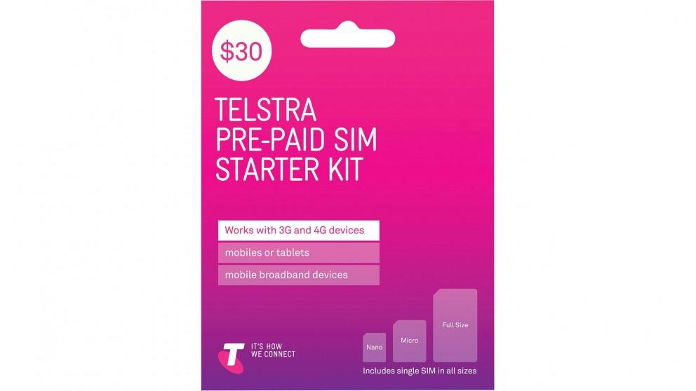 Buy Telstra 30 Pre Paid Trio Sim Starter Kit Harvey Norman Au