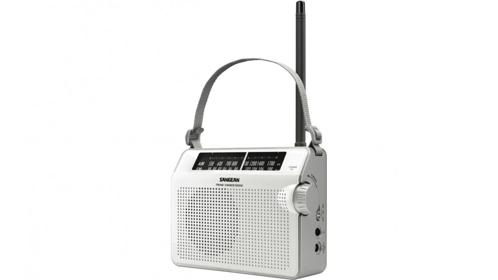 Sangean AM/FM Compact Radio - White