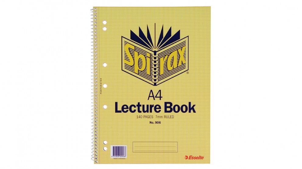 Spirax No. 906 A4 Lecture Book