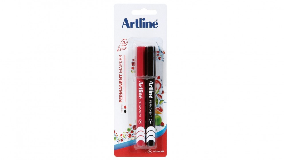 Artline At Home Fine Permanent Marker - 2 Pack