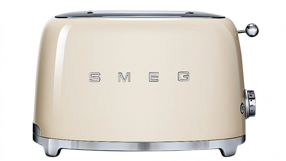 buy smeg 50 39 s style series 2 slice toaster cream harvey norman au. Black Bedroom Furniture Sets. Home Design Ideas
