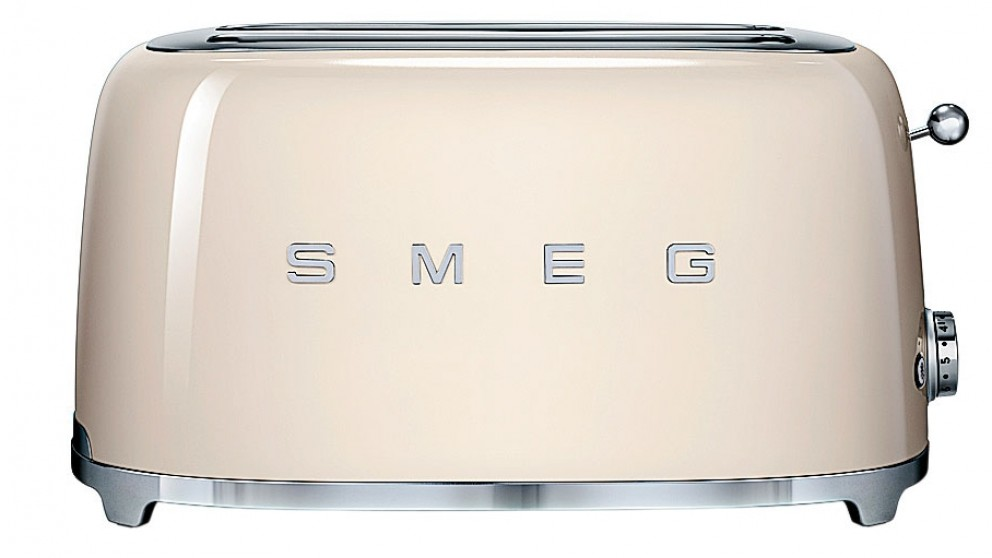 buy smeg 50s style longslot toaster cream harvey norman au. Black Bedroom Furniture Sets. Home Design Ideas