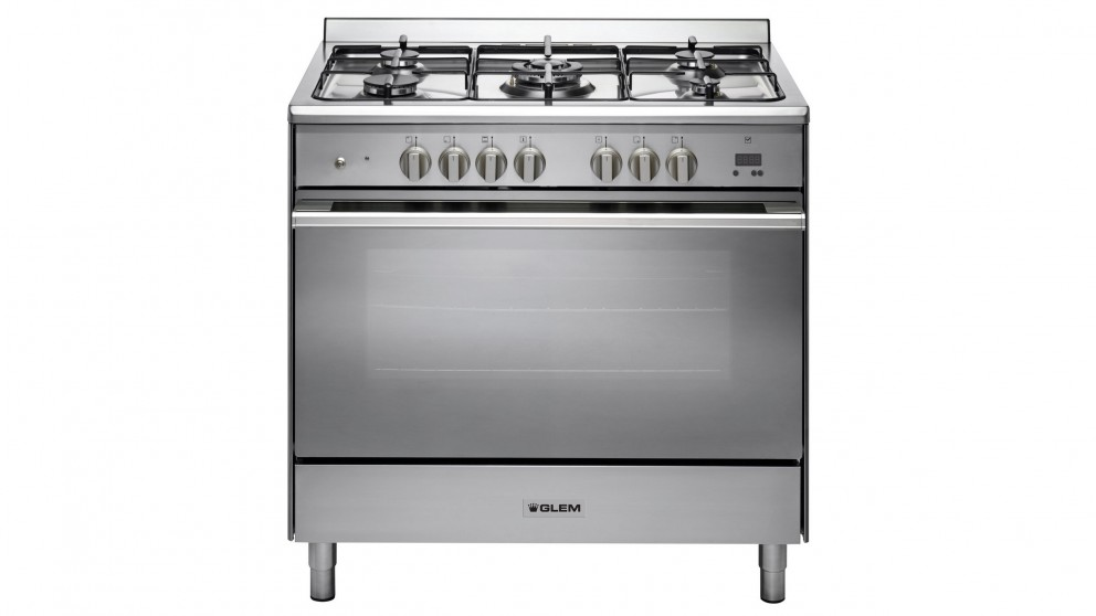 Glem 900mm Freestanding Dual Fuel Cooker - Stainless Steel