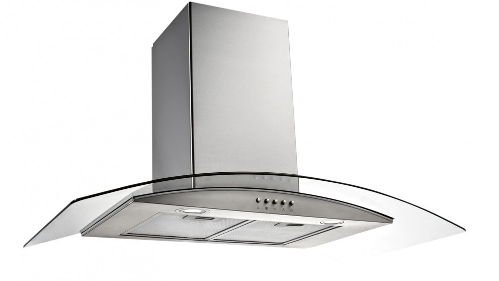 Emilia 900mm Curved Glass Rangehood